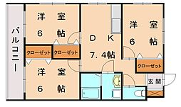 コスモビル[2階]の間取り