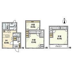 [一戸建] 東京都足立区中川2丁目 の賃貸【/】の間取り