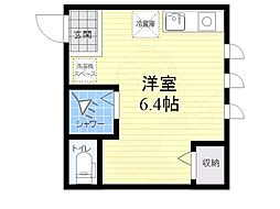 viola mitaka 1階ワンルームの間取り