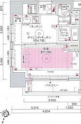 エステムプラザ飯田橋タワーレジデンス[901号室号室]の間取り