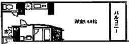 LUMO2天満[3階]の間取り