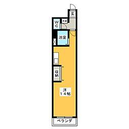 グリフィンコタニ[4階]の間取り
