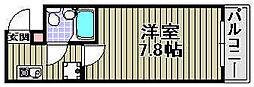 Rinon脇浜[201号室]の間取り