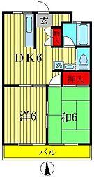 平和橋パールコーポ[8階]の間取り