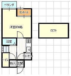 オークヒルズ六本松[3階]の間取り