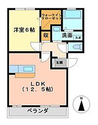 フローラルコートF[3階]の間取り