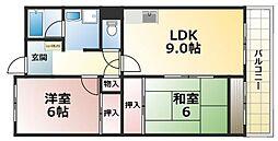 美杜里ハイムI[4階]の間取り