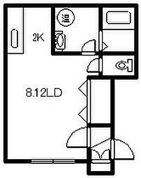 BBroom[201号室]の間取り