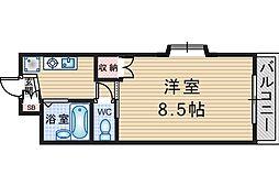 ノベラスコート蛍池[3階]の間取り