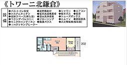 トワーニ北鎌倉[202号室号室]の間取り