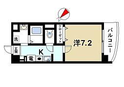 奈良県生駒市東松ケ丘の賃貸マンションの間取り