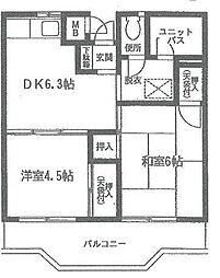 神奈川県横浜市保土ケ谷区上菅田町の賃貸アパートの間取り