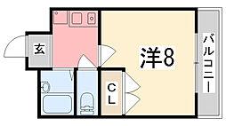 グランボナール下野田II[204号室]の間取り