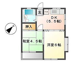 タケウチハイツ[2階]の間取り