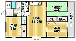 ISE伊勢住宅綾園6502[2階]の間取り