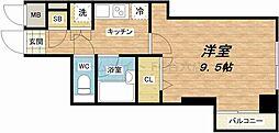 マルマン大阪マンション[4階]の間取り
