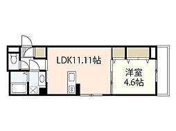 広島電鉄6系統 舟入川口町駅 徒歩5分の賃貸アパート 1階1LDKの間取り