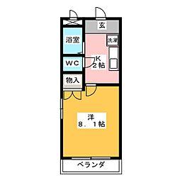アーバンオクムラ[4階]の間取り