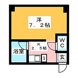 アシスト第2青森マンション[2階]の間取り