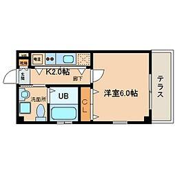 Celeb西上小阪[101号室号室]の間取り