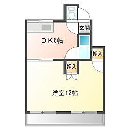 加藤アパート[B102号室]の間取り