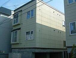 北海道札幌市清田区美しが丘一条8丁目の賃貸アパートの外観