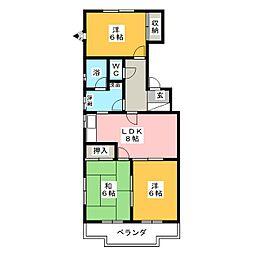 エクセル宮田[3階]の間取り