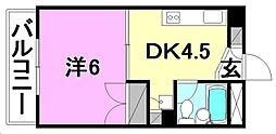 宮崎ビル[704 号室号室]の間取り