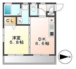 ハウスK&K[2階]の間取り