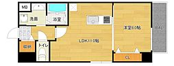 仮称城東区中央マンション[3階]の間取り