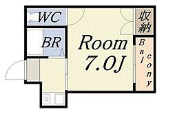 ハイツ渡辺2[3階]の間取り