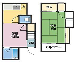 [一戸建] 神奈川県横浜市鶴見区仲通2丁目 の賃貸【/】の間取り