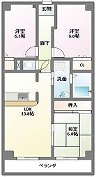 エクセレントステージ[1階]の間取り