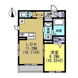 仮)川崎区藤崎1−1シャーメゾン[105号室]の間取り