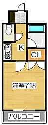 キャンパスシティ太宰府[618号室]の間取り