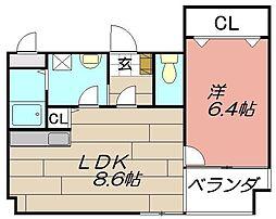 アンビエンス小倉駅前[701号室]の間取り