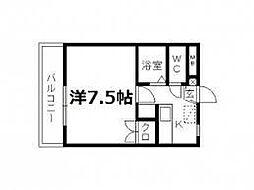第8田畑ハイツ[1-B号室]の間取り