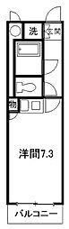 ホワイトコーポIII[3階]の間取り