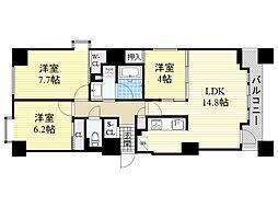 ラ・クラッセ札幌ステーションコート[603号室]の間取り