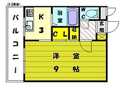 宮本ビル[3階]の間取り