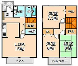 [テラスハウス] 兵庫県伊丹市鴻池5丁目 の賃貸【/】の間取り