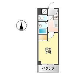 レジデンス中島[5階]の間取り