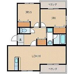 プレステージタカラT[2階]の間取り