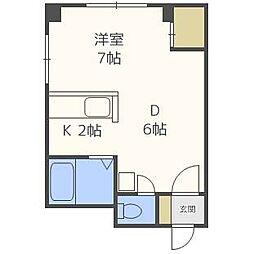 N405ビル[3階]の間取り