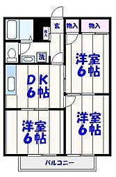 シティハイツ板橋II[203号室]の間取り