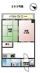 クレセント・トミザワ[203号室]の間取り