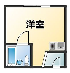 メゾン愛花夢十三[4階]の間取り