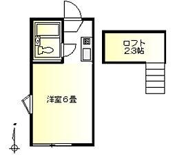 コーポ青木第2[1階]の間取り