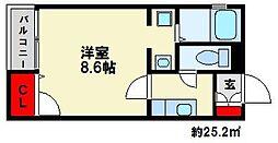 トルナーレ南福岡[103号室]の間取り