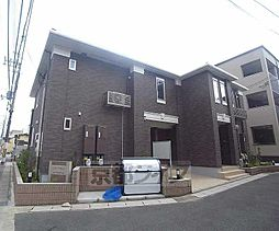 京都府京都市右京区梅津石灘町の賃貸アパートの外観